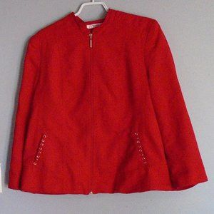 TanJay red blazer soft faux suede size 16 petite